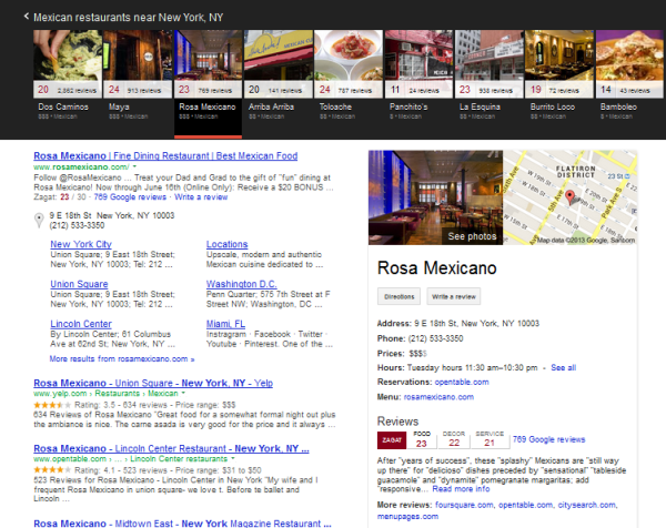 Google Knowledge Graph Carousel display