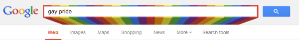 Google gay search bar
