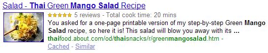 Rich Snippet Recipe