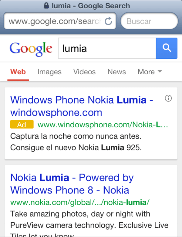 Adwords Mobile Ad Test No Background Yellow Ad Icon