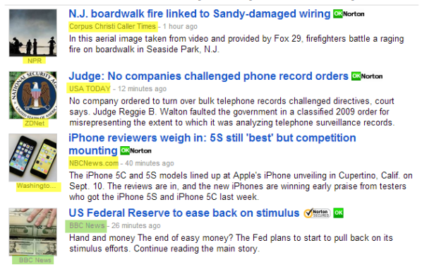 Google News SERP showing thumbnail image attribution errors