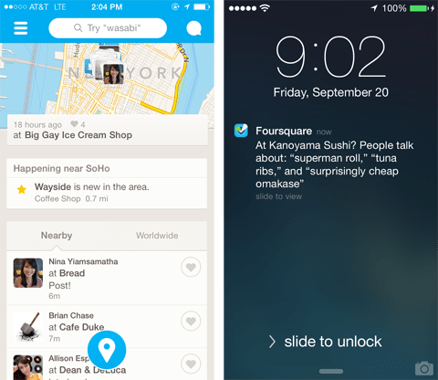 Foursquare Updates Oct 2013