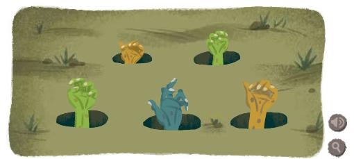 Google Logo Monster Hands