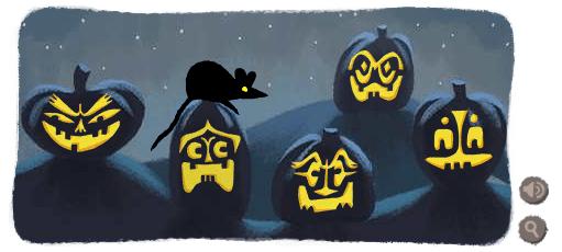 Google Logo Pumpkins