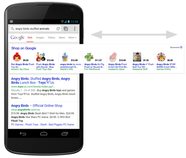 Expanded Google PLAs on Mobile