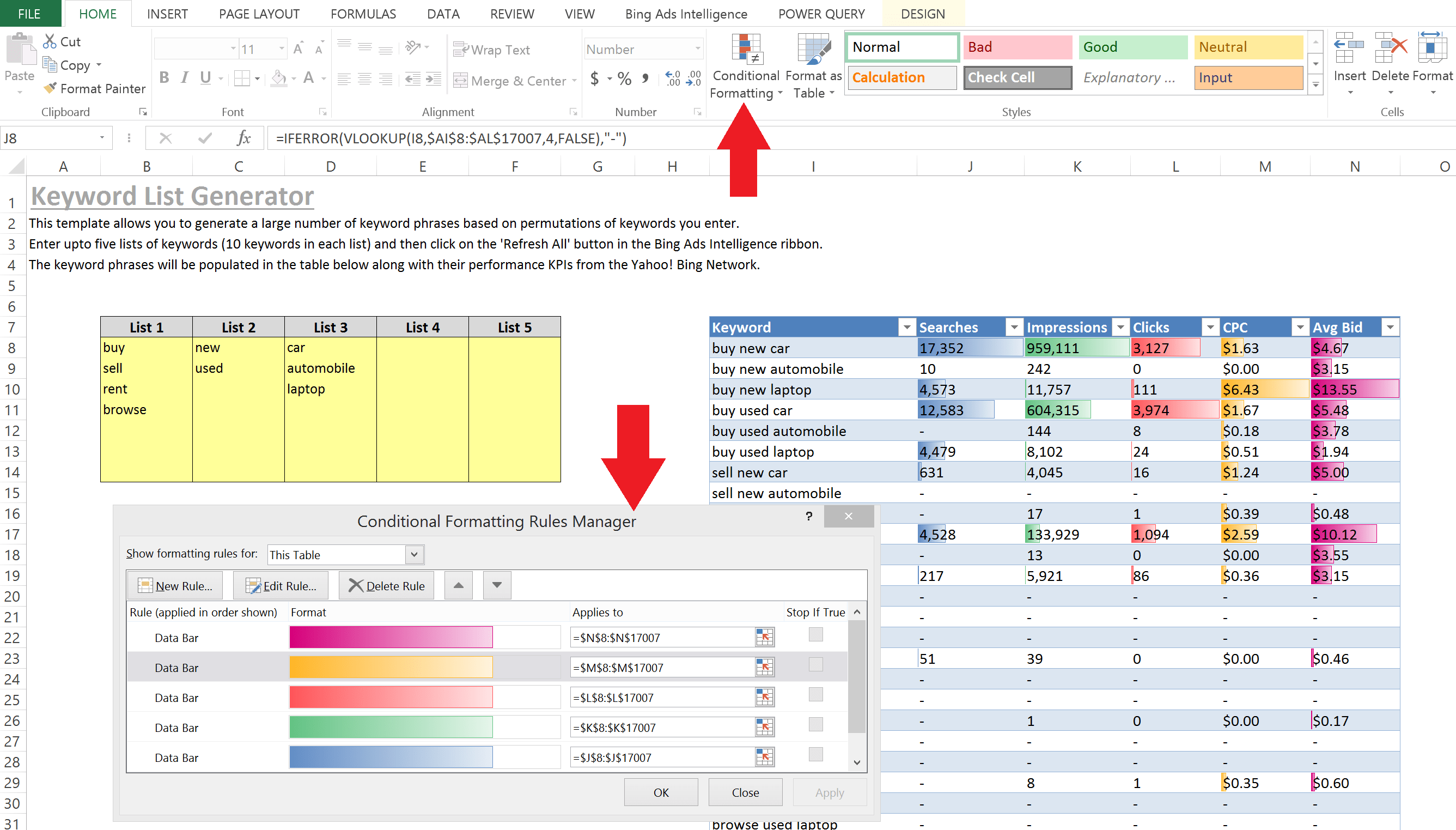 Ppc Excel Tips For Every Level Part 3 Advanced Level Keyword Research And Data Visualization