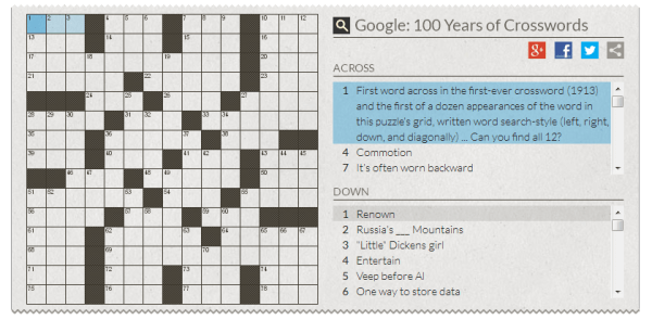 Google Crossword Puzzle