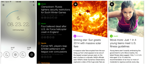 Yahoo News Digest Screens