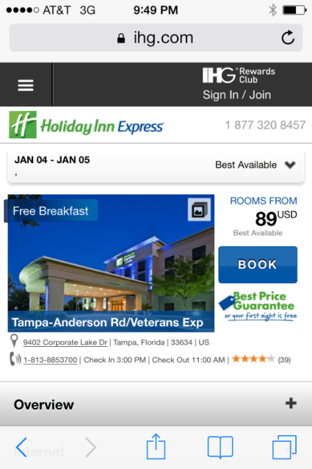 mobile site holiday inn
