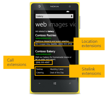 Bing Ads Mobile Sitelinks Ad Extensions