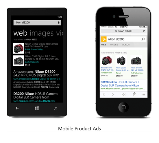 Bing Ads Mobile Product Ads
