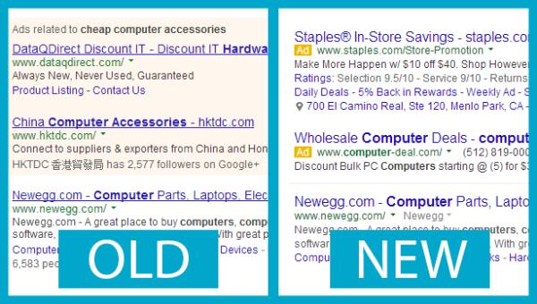Google New v Old Design