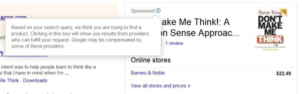 Google Knowledge Graph Ad For Books