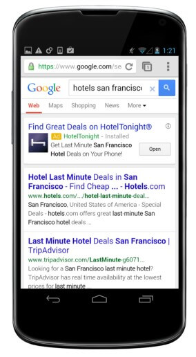 Google AdWords Installed App Ads