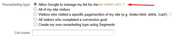 Google Remarketing Smart Lists With Google Analytics