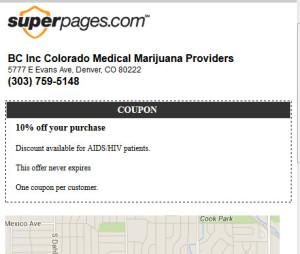 Marijuana Discount Coupon - Superpages
