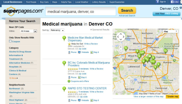 Medical Marijuana Dispensaries Denver - Superpages