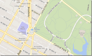 Bing Maps Park Trails and Road after