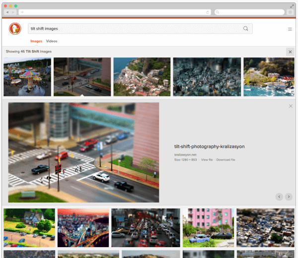 DuckDuckGo New image search