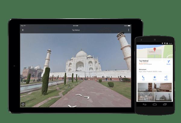 Google Maps explore vacation spots