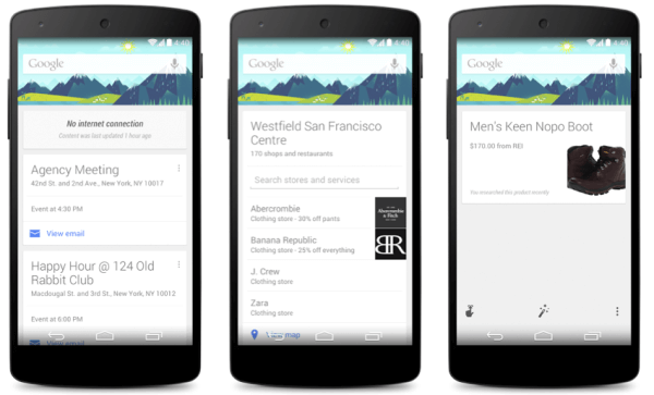 Google Now new features