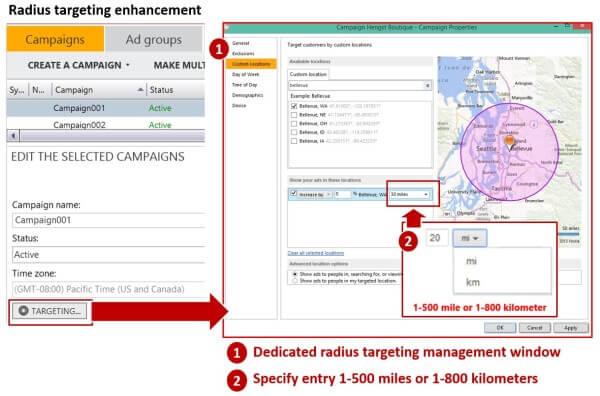 Bing Ads Editor Radius Targeting