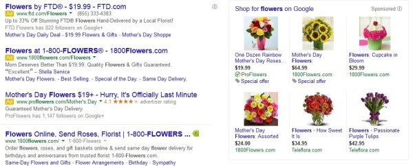 Flowers Paid Search marketing