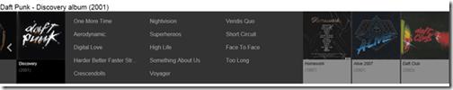 Bing Music Album listings