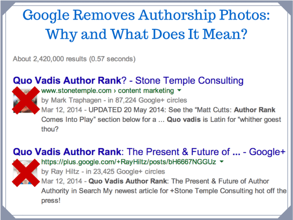 Google Removes Author Photos from Search: Why and What It Means