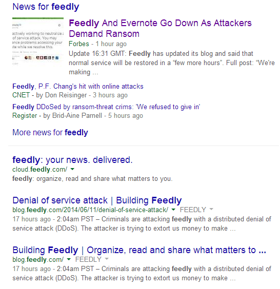 Example of negative press effecting brand image in search
