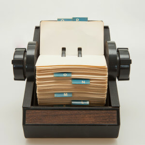 rolodex file