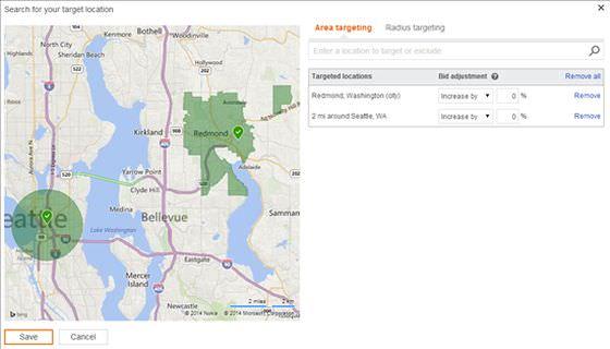 Bing Ads Location Targeting