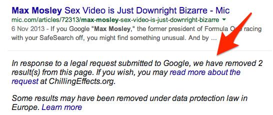 Max Mosley notice