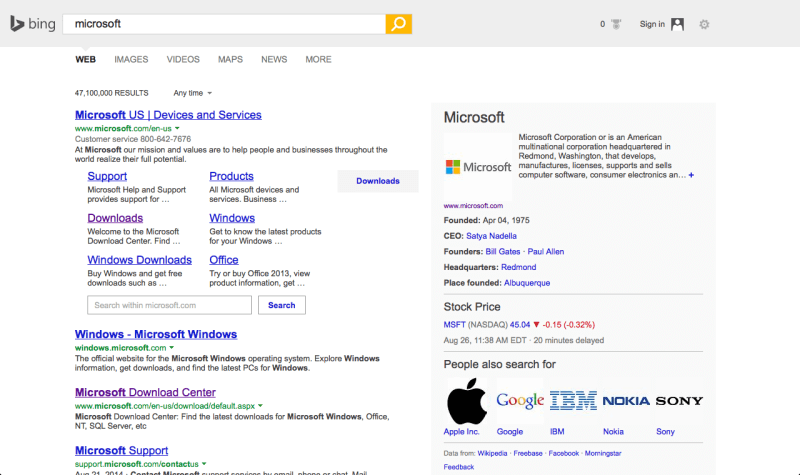 Bing tests a new interface similar to Google