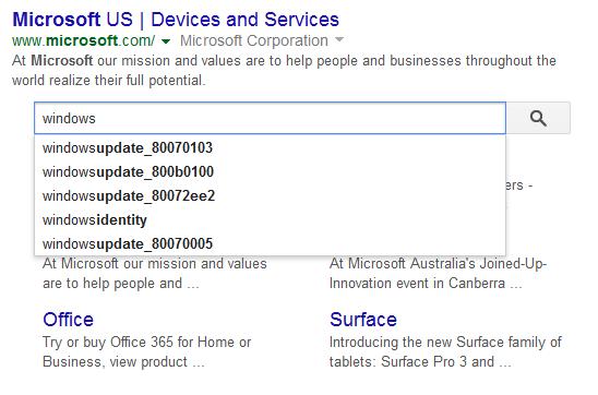 Google new search box