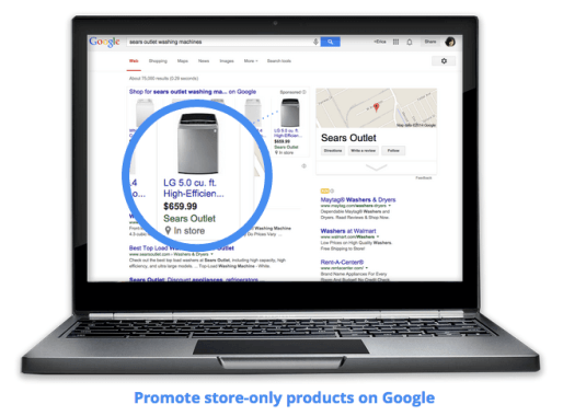 Google AdWords store-only local plas on desktop