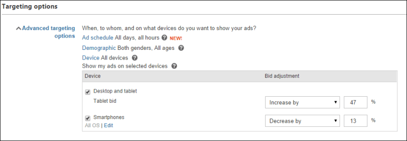 Bing advanced targeting