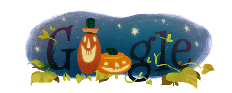 Google Halloween Pumpkin logo