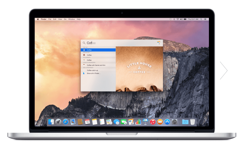 Spotlight Search Apple