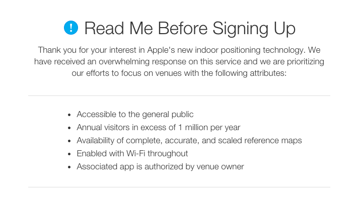 Apple iBeacon solicitation