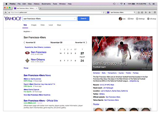 Yahoo-Firefox UI