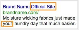 Example AdWords Ad 2