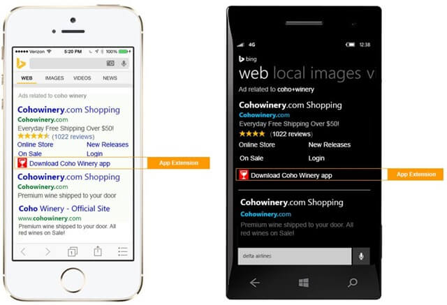 Bing Ads App extensions