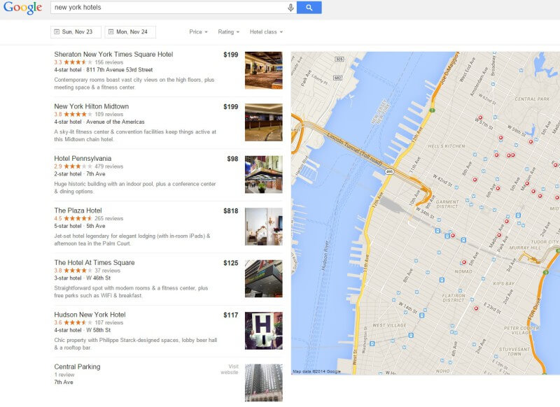 Google local listings page replaces knowledge graph carousel
