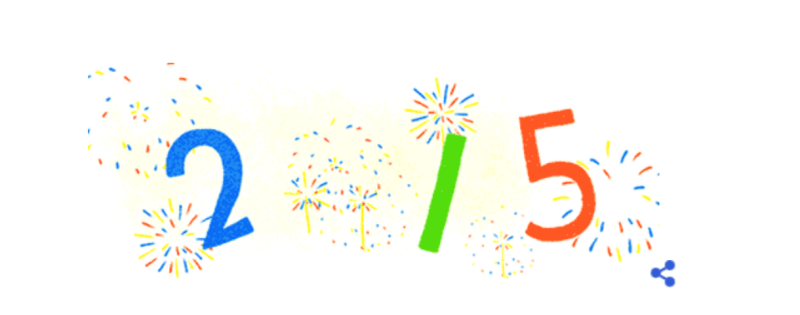 Google 2015 New Years Day logo