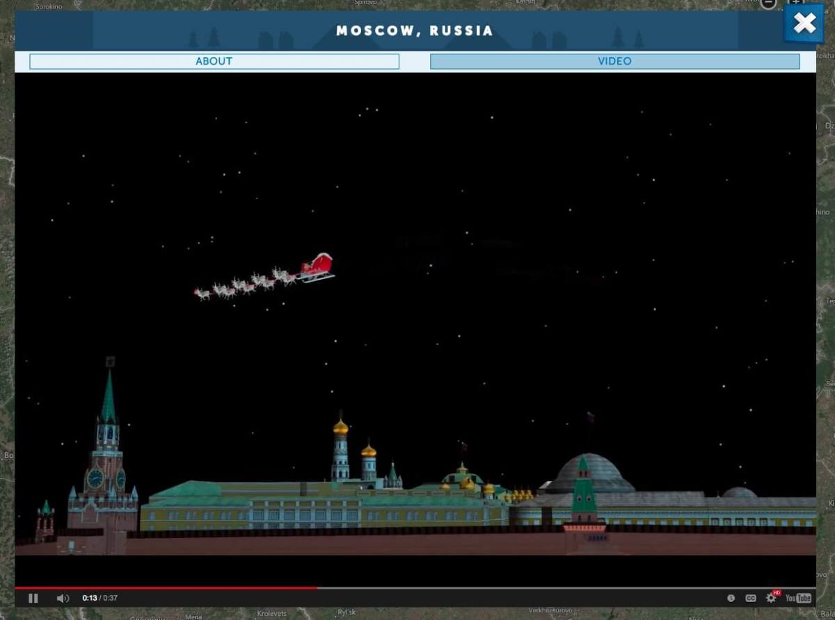 NORAD Tracks Santa 2014 Moscow Santa Cam