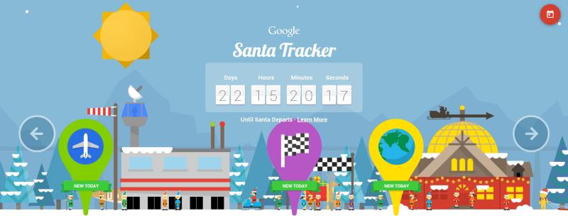 Santa Tracker Google Image