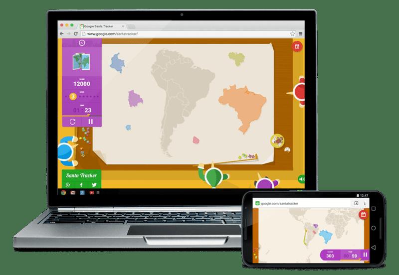 Santa Tracker app chrome extension