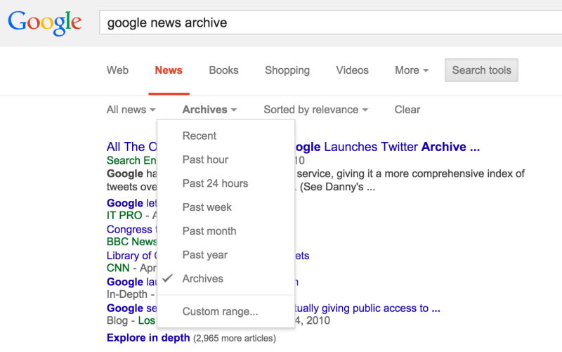 google-news-archive