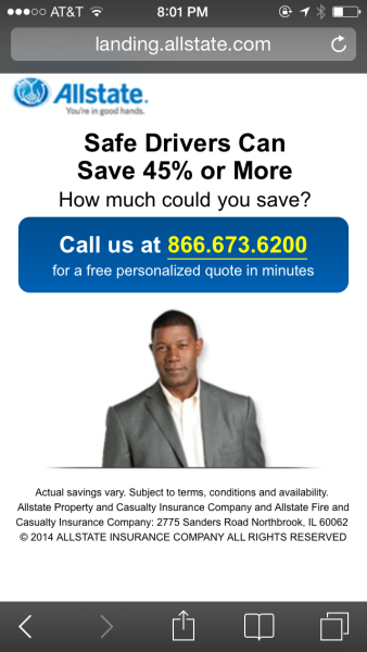 allstate mobile landing page